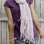 easy fluffy fringe scarf