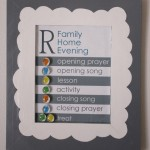 Magnetic Framed Family Home Evening Board