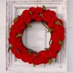 Valentine Rosette Wreath