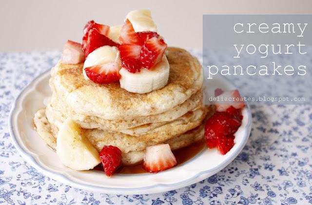 Панкейки на йогурте пышные рецепт