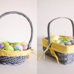 Gray and Yellow Easter Baskets