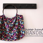 Blue…Hoop Handled Handbag