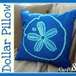 No Sew Sand Dollar Pillow