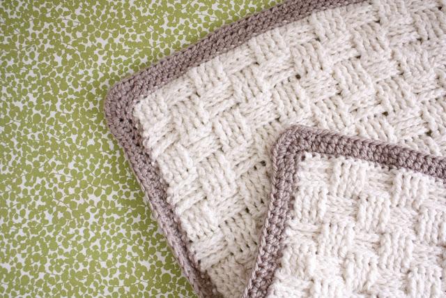 Nesting Basket Weave Crochet Baby Blanket