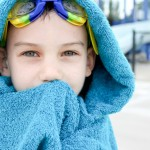 Blue: Hooded Towel Poncho