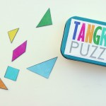 Rainbow: Magnetic DIY Travel Tangram Puzzles