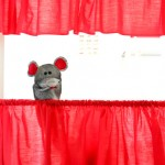 Red: Tension Rod Puppet Theater
