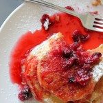 Cranberry Pancake Syrup and Creamy Yogurt Pancakes