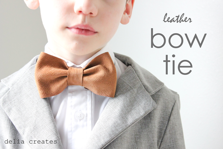 Leather Bow Ties