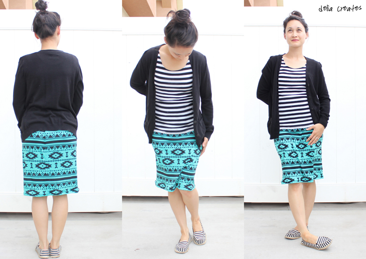 Knit Pencil Skirt Tutorial for Girl Charlee – Two Versions