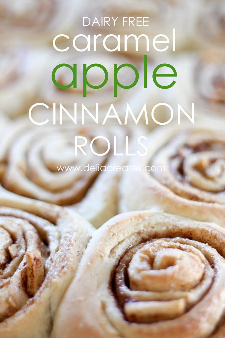 Caramel Apple Cinnamon Rolls (Dairy Free)
