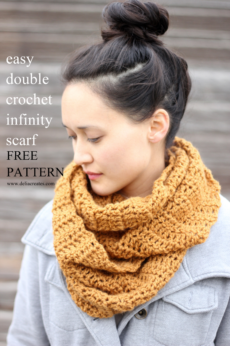 Double Crochet Infinity Scarf Free Pattern : Gallery For > How To Crochet An Infinity Scarf For Beginners