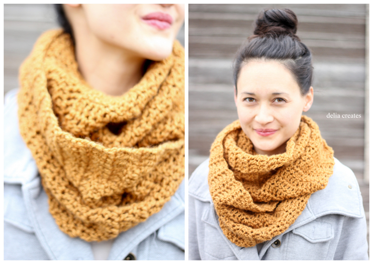 Double Crochet Infinity Scarf FREE PATTERN Classy Crochet Infinity Scarf Pattern In The Round