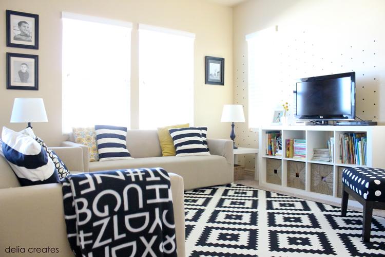 Easy 5 vinyl wall treatment for Living room wall treatment ideas