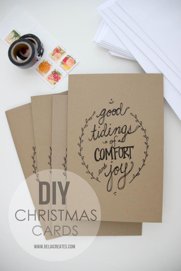 DIY Christmas Cards + free printable