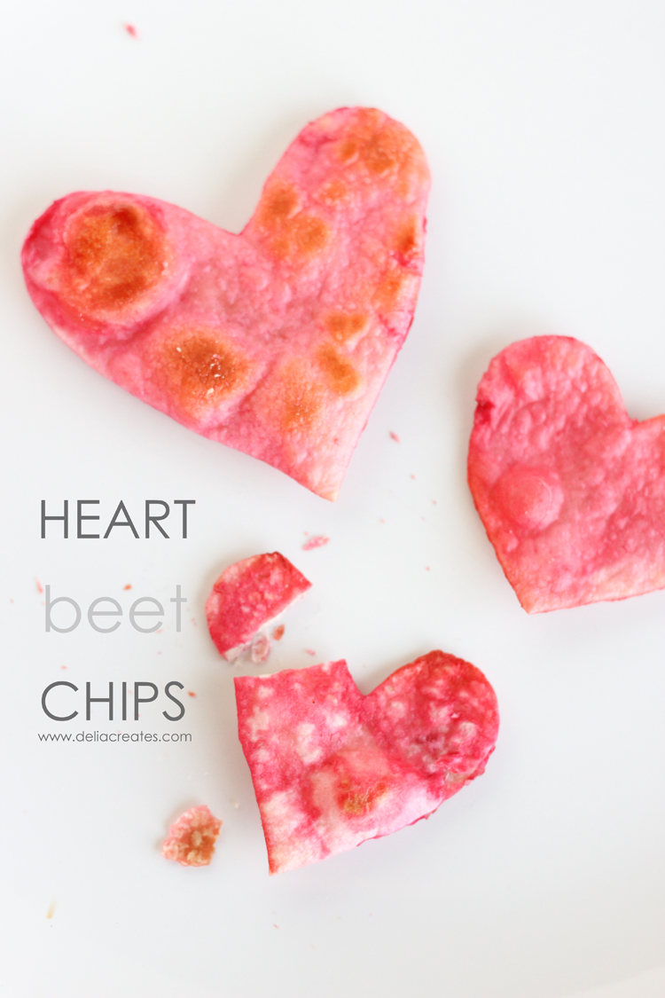 Heart Beet Chips - www.deliacreates.com