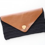 Crocheted Leather Flap Clutch TUTORIAL