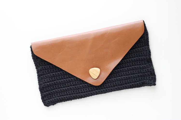 Crocheted Leather Flap Clutch (36 of 66)