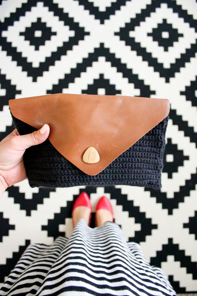 Crocheted Leather Flap Clutch (53 of 66)