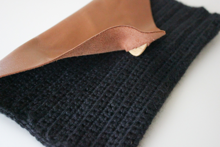 Crocheted Leather Flap Clutch (56 of 66)