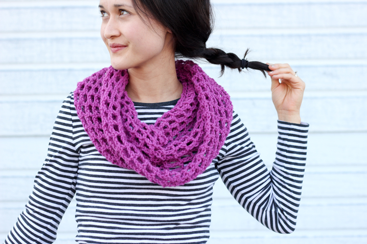 Free Crochet Pattern For A Cowl : Mesh Cowl Scarf ? FREE Crochet Pattern + Tutorial!