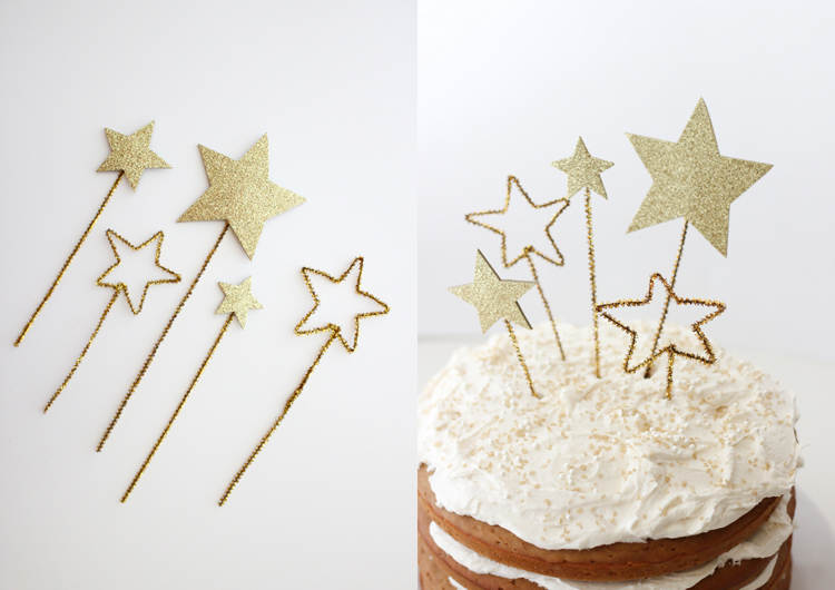 Gold Star Cake Toppers (& Allergy Free Frosting)