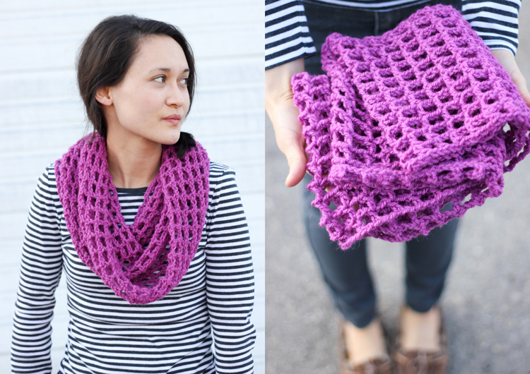 Free Mesh Yarn Crochet Patterns : Mesh Cowl Scarf ? FREE Crochet Pattern + Tutorial!