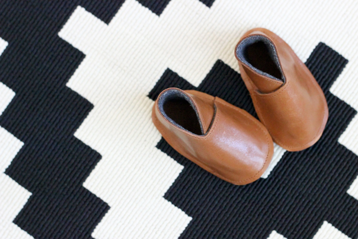 DIY Leather Baby Boy Boots - Free Pattern + Tutorial - Delia Creates (13)