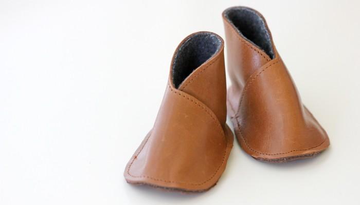 DIY Leather Baby Boy Boots - Free Pattern + Tutorial - Delia Creates (5)