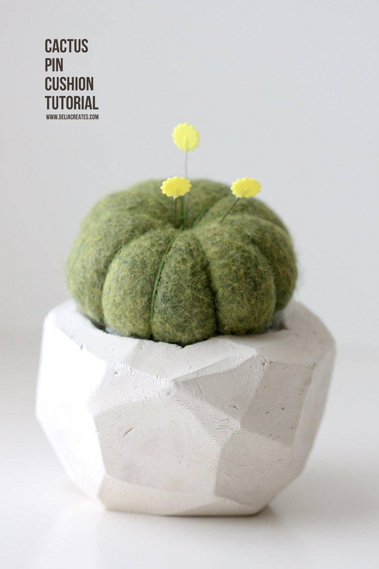 Geometric Cactus Pin Cushion TUTORIAL (9)