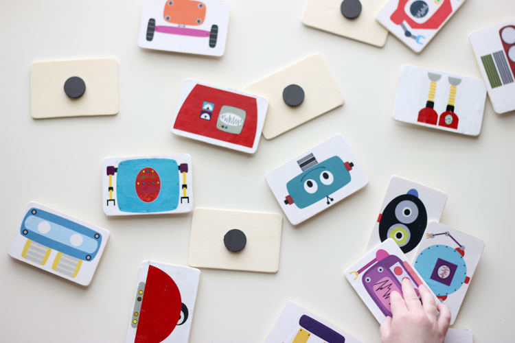 Robot magnets and blocks (8 of 20)