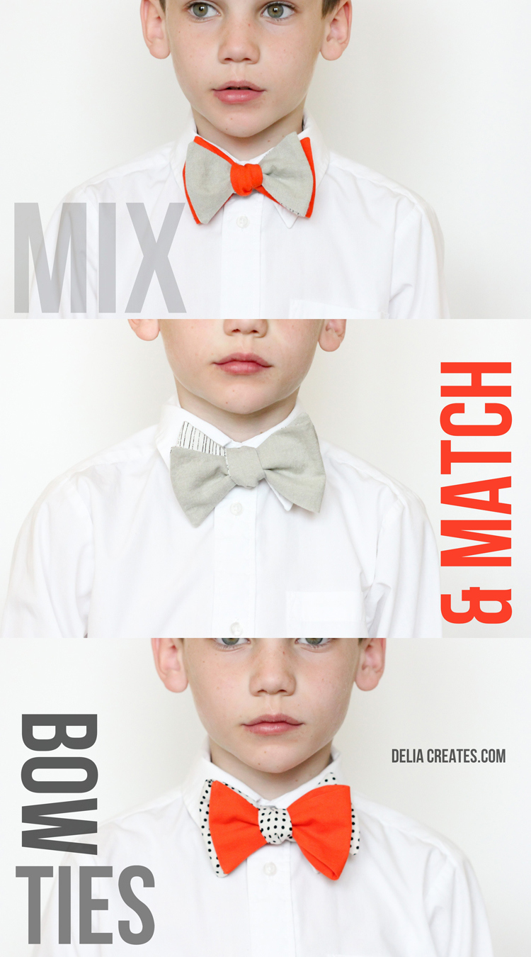 mix and match bow ties  u2013 free pattern and tutorial