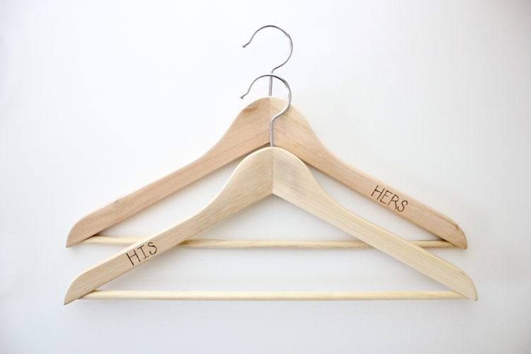 Wood Burned Clothes Hangers