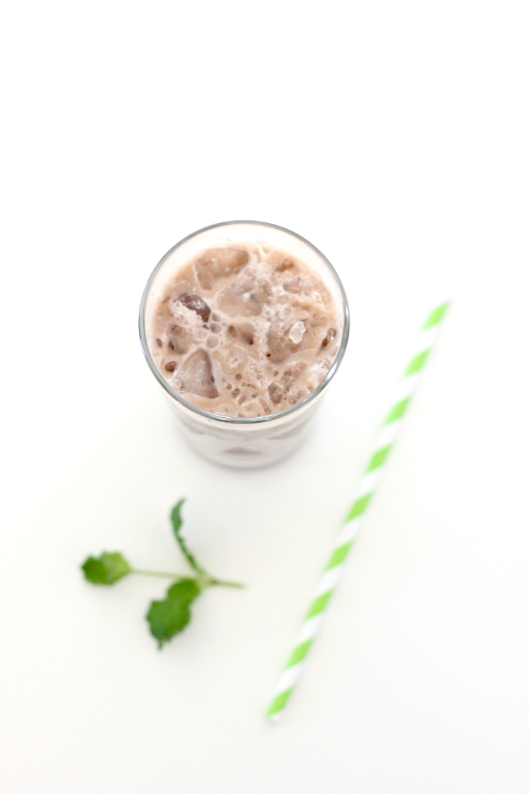 Mint Iced Cocoa -  vegan and dairy free!  Delia Creates