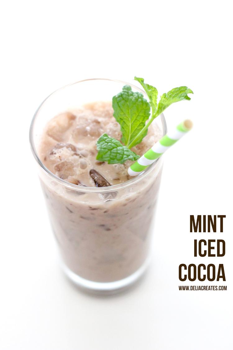Mint Iced Cocoa - dairy free!  Delia Creates