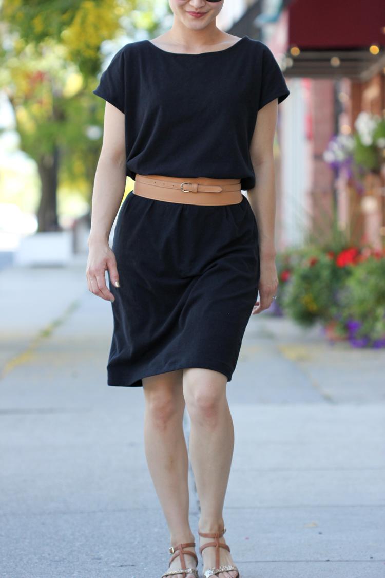 Little Black Slouch Dress - Delia Creates
