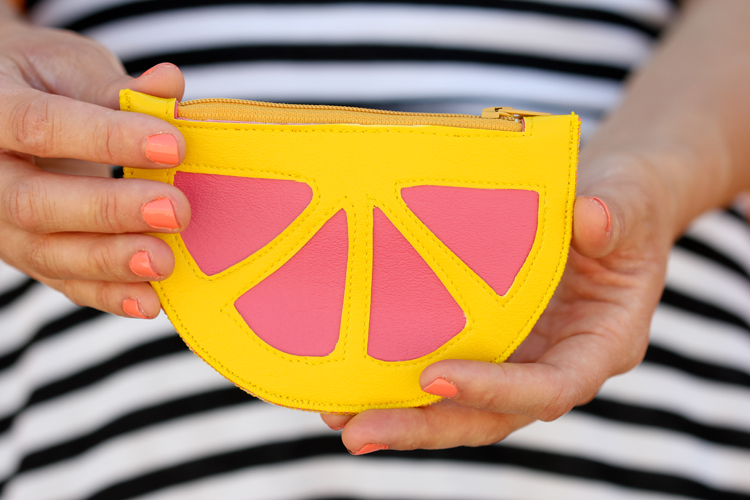 Citrus Wedge Coin Purse - Delia Creates