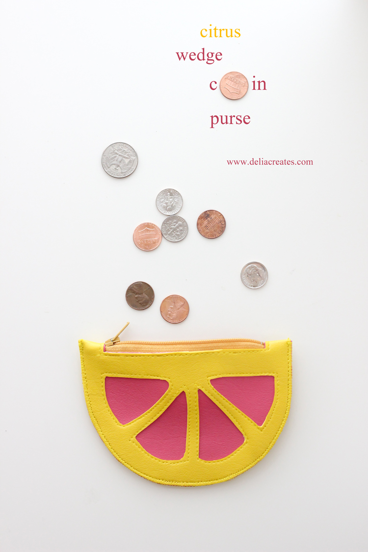 Citrus Wedge Coin Purse TUTORIAL - Delia Creates