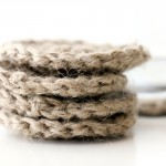 Simple Jute Twine Crocheted Coasters