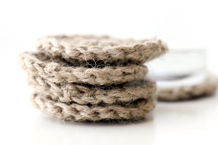 Crocheted Jute Coasters - Delia Creates