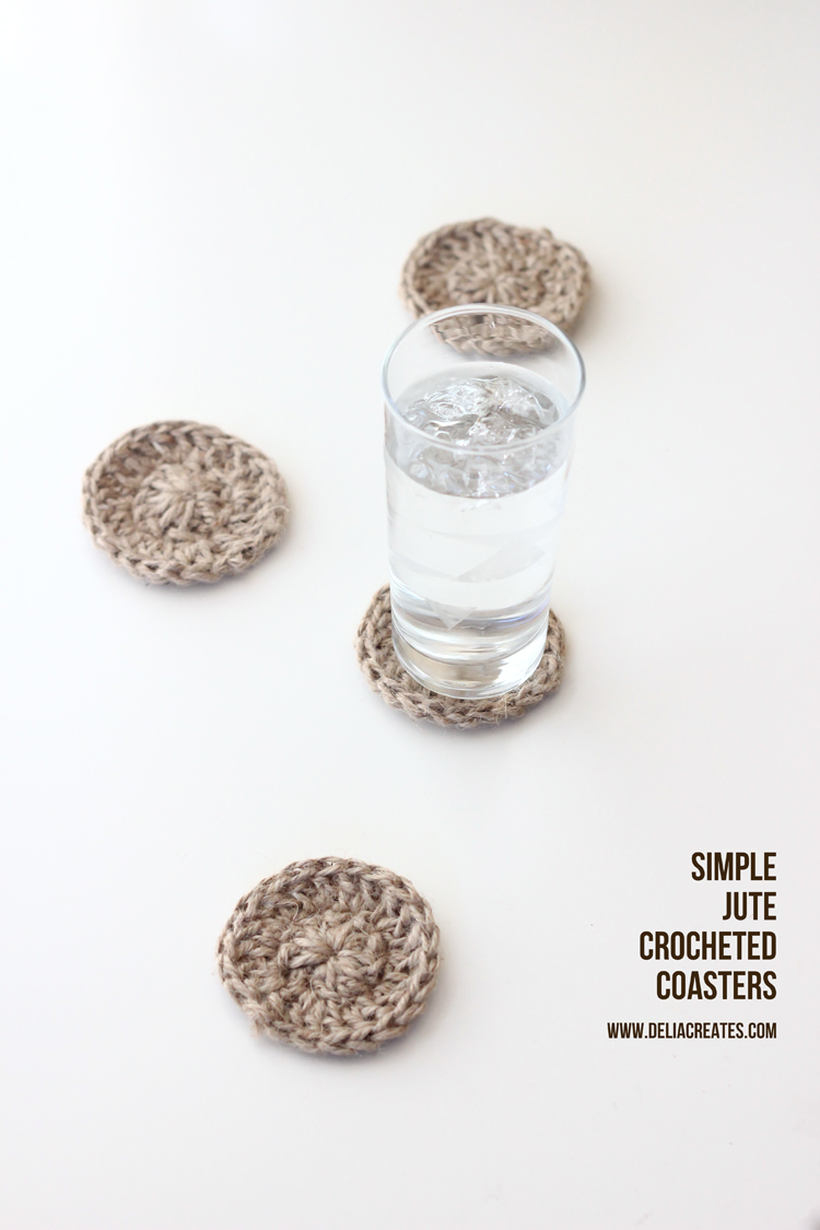 Crocheted Jute Coasters - Delia Creates