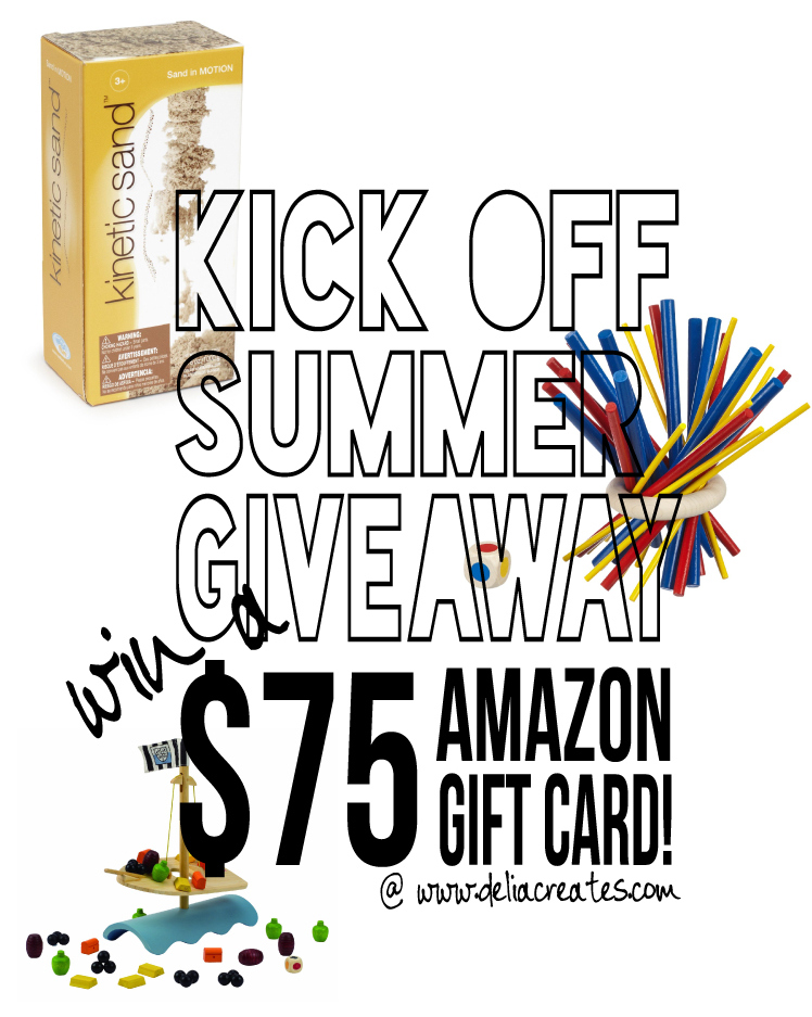 Kick-Off Summer $75 AmazonGiveaway!!--Delia-Creates
