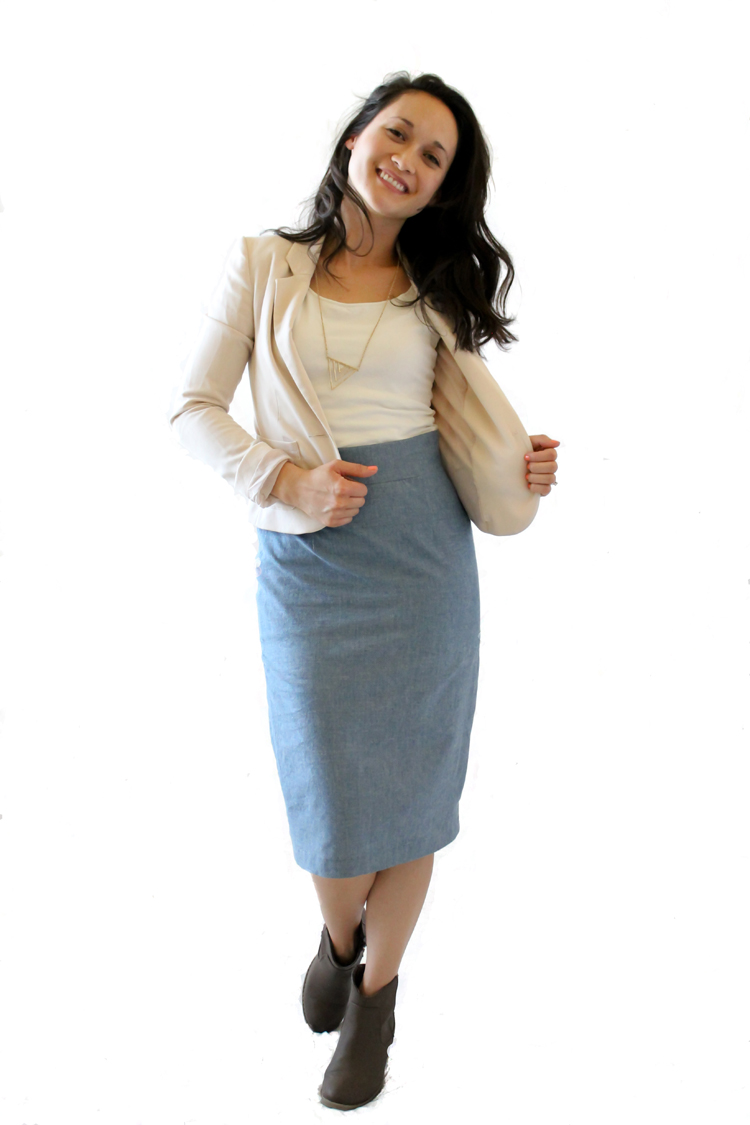 Pleated Pencil Skirt Pattern // Delia Creates