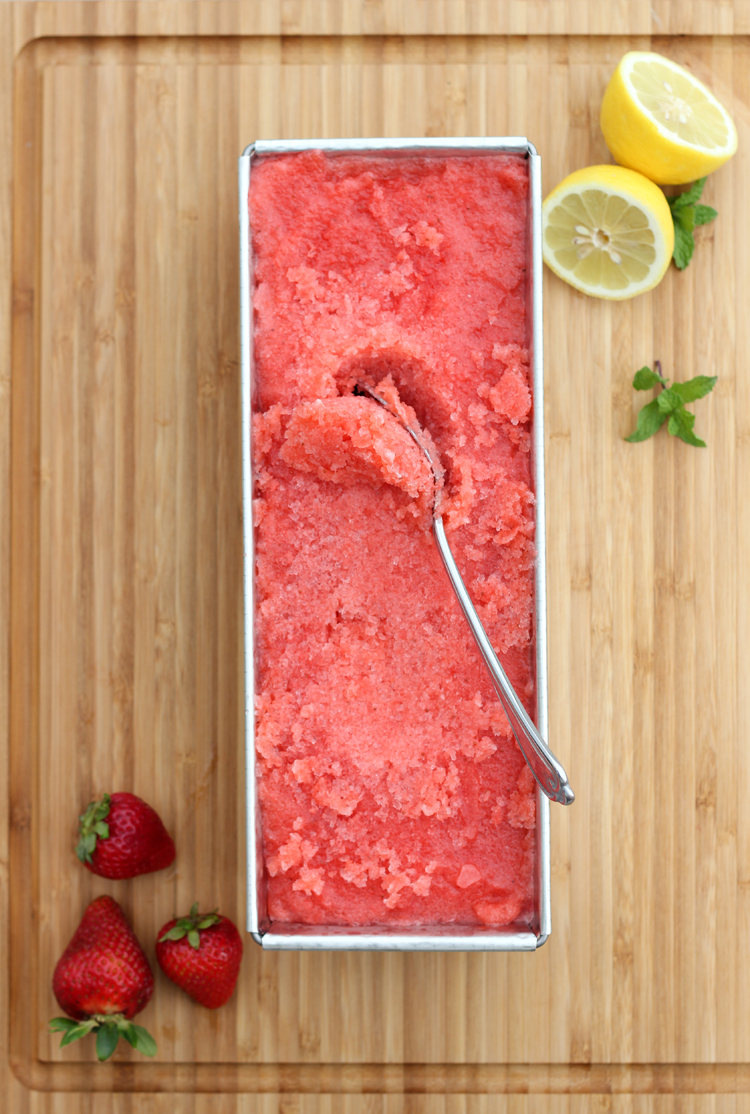 Strawberry Lemonade Sorbet - Delia Creates