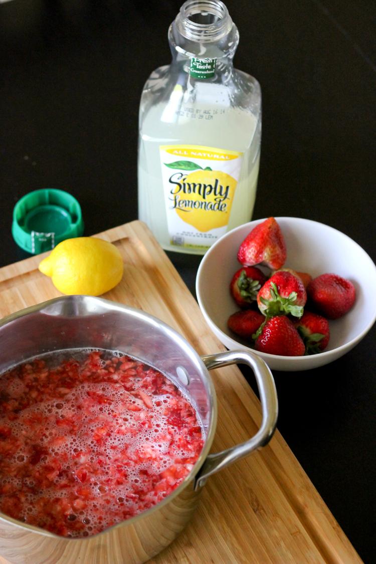 Strawberry Lemonade Sorbet - Delia Creates