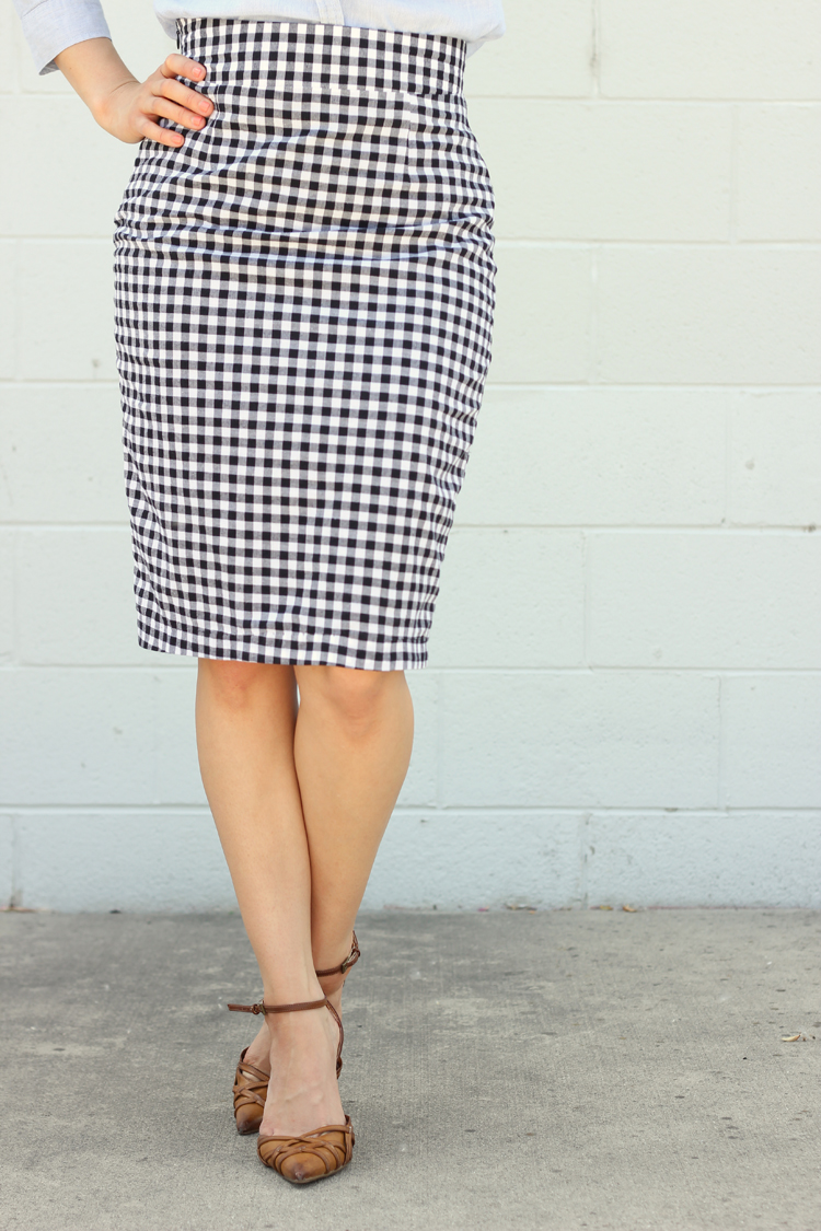 Pleated Pencil Skirt Pattern - Delia Creates