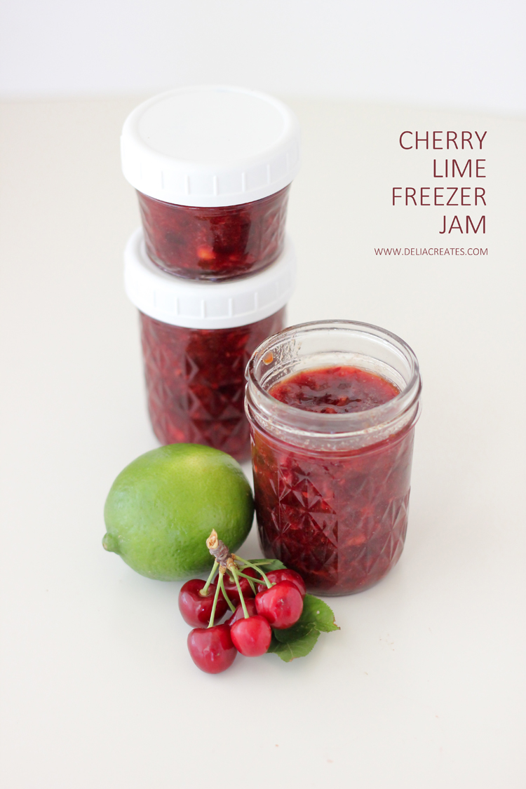 Easy Cherry Lime Freezer Jam Recipe - Delia Creates