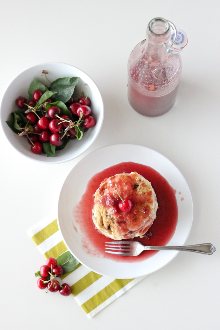 Fresh Cherry Syrup and Vegan Banana Pancakes - Delia Creates