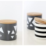 Simple Geometric Painted Treat Jars