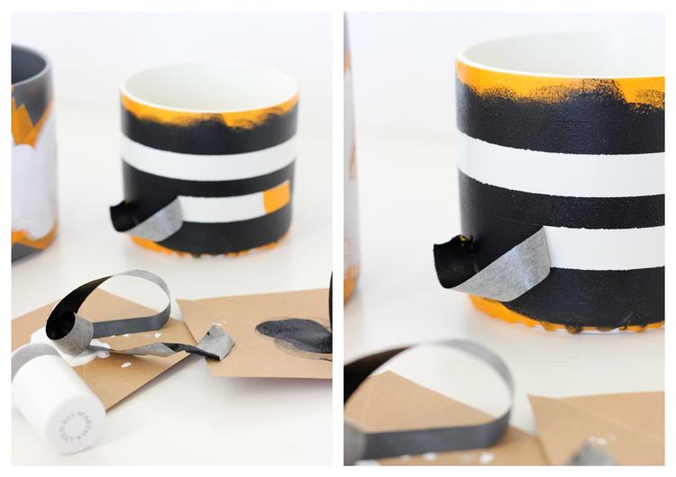 Simple Geometric Treat Jars - Delia Creates